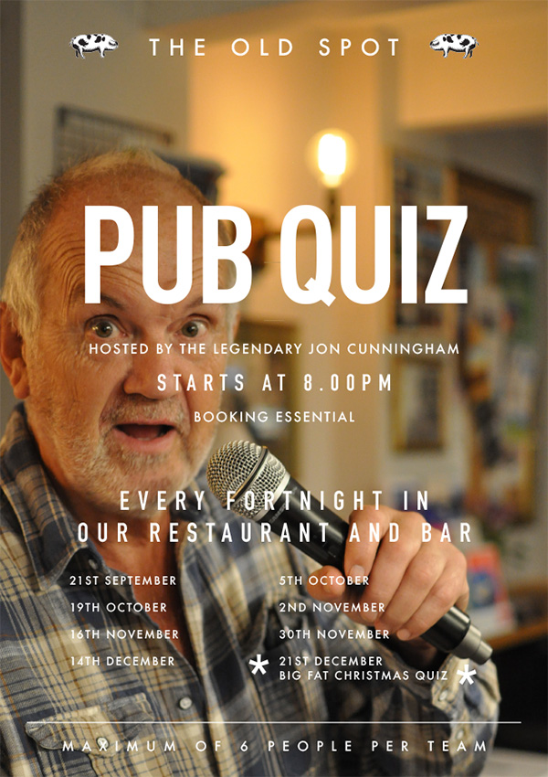 TGOS PUB QUIZ POSTER - What's On